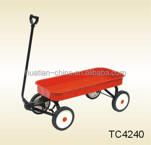 plastic kids Tool Cart TC4240 with four wheels,garden cart