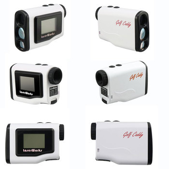 Compact Laser Rangefinder for Golf, White Laser Rangefinder with PinSeeker Technology