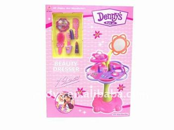 plastic dressing table toy/toy for girls/plastic make-up table set