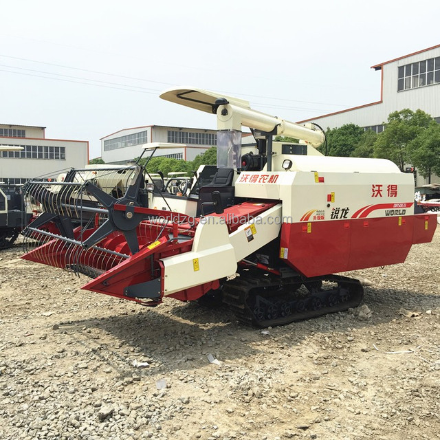 New design and hot sell Modern and high efficiency rice wheat and corn harvester agriculture machine