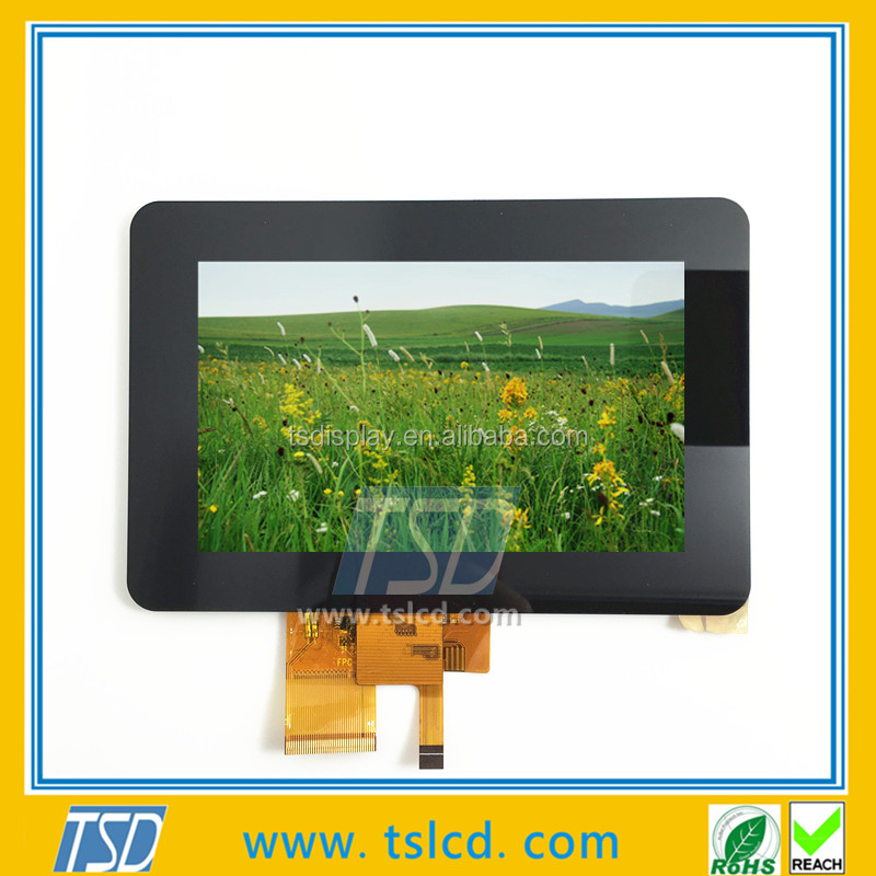 TSD TFT 5 inch LCD dosplay screen 800*480 with RGB interface, Resistive touch and Capacitive available