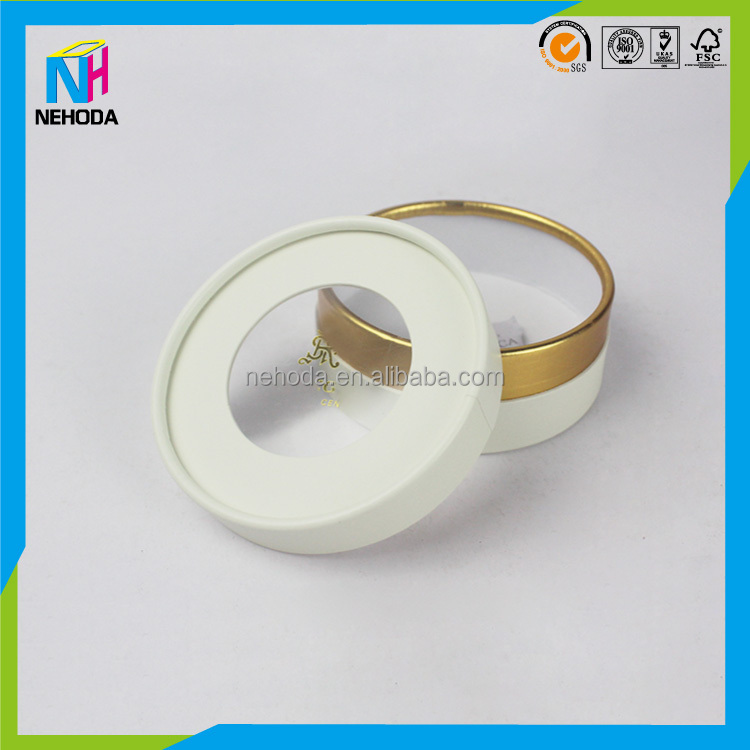 plastic pvc pp window cardboard tube paper tube packaging with pvc plastic lid