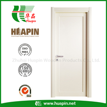 Simple Room Door Design White Paint Modern Economic Interior Wooden Door