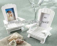 "2014 ""Beach Memories"" Miniature Adirondack Chair Place Card/Photo Frame"