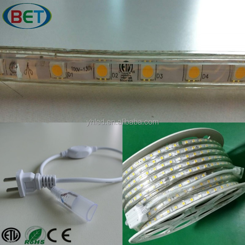 Smd5050 Shenzhenled Sheet Rgb Flexible Shop Line Flex Tape 120V Etl High Voltage Led Strip Under Cabinet Lighting China