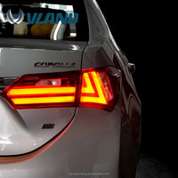 Vland producer for corolla 2014 tail light led tail light with drl daytime running light for taillight toyota corolla
