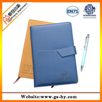 A5 leather note book with ball pen
