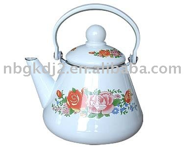 the enamel tea kettle