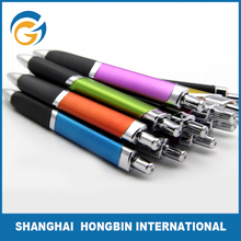 Triangle Metallic Color Pen Holder Promotional Plastic Pen Ball Pen