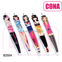 High quality custom eyebrow tweezers B2504