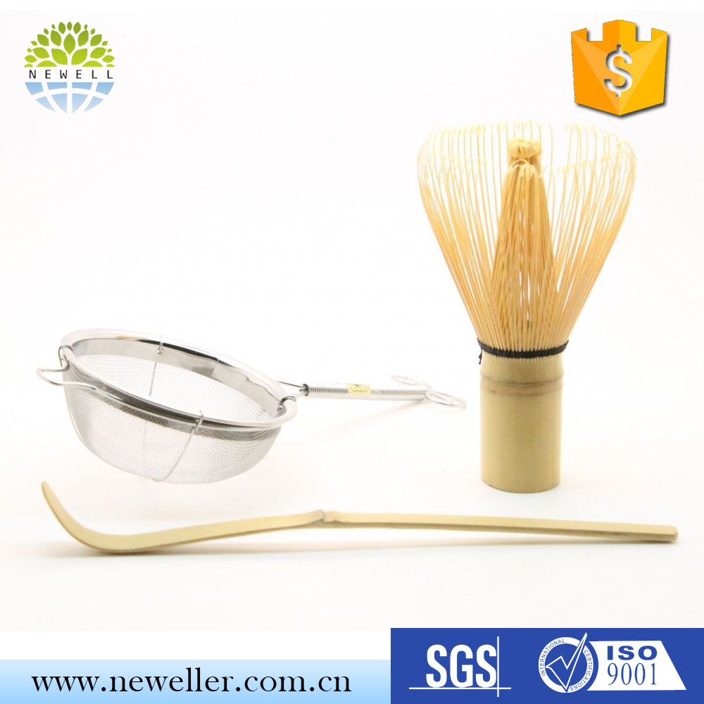 Factory wholesale easy to use matcha chasen/100prongs whisk with printing