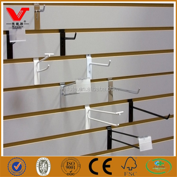 Mdf Slatwall Slotted Mdf Board With Hooks Display Buy