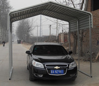 3x3x2.5m Brand New Metal Carport One Car Shelter Green Color Horizontal Roof Carports