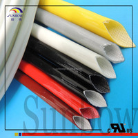 High temperature treated silicone rubber fiberglass braided wire insulated sleeving