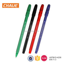 2018 top sell cheap price multi-color plastic shell OEM writing black promotional pen