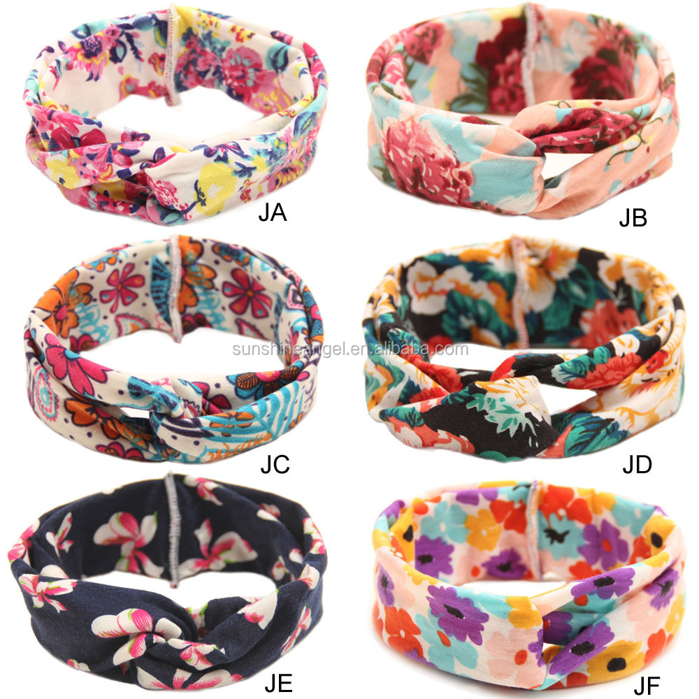 Newborn Infant Toddler <strong>Hair</strong> Bow Headband Flowers Print Floral Hairband Turban Knot Headwear For Baby <strong>Hair</strong> <strong>Accessories</strong>