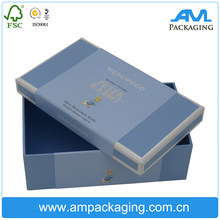 Custom Color dyed Lid Base Two Piece Set Up Paper Gift Box wholesale with belly band
