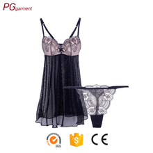Wholesale 2017 newest design breathable lady teen girls sexy sleepwear young girls sexy hot transparent nightwear