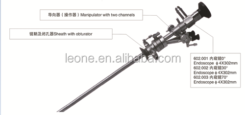 Urology endoscopic instruments 0/30/70 Degree Cystoscope