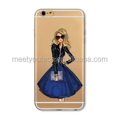Brand new protective cover for iphone5s Fashion Girl Designs Phone Case