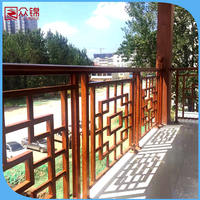 2016 latest manufacturer of luxury wrought iron balcony railing/modern design terrace balustrade/wrought aluminum porch railings