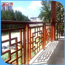 2017 latest manufacturer of luxury wrought iron balcony railing/modern design terrace balustrade/wrought aluminum porch railings