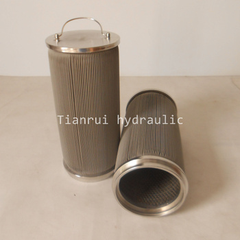 Stainless steel wire mesh pleated fuel filter RYLX100A-010W-T with handle