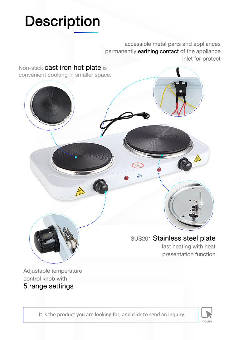 220V Portable electric cooking hot plate with CE