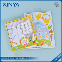 XINYA Promotional Gift Cartoon Handmade DIY Christmas Card Making Kit For Kids