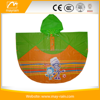 Cute PVC Kids Rain Poncho