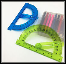 Factory high quality plastic protractor with swing arm