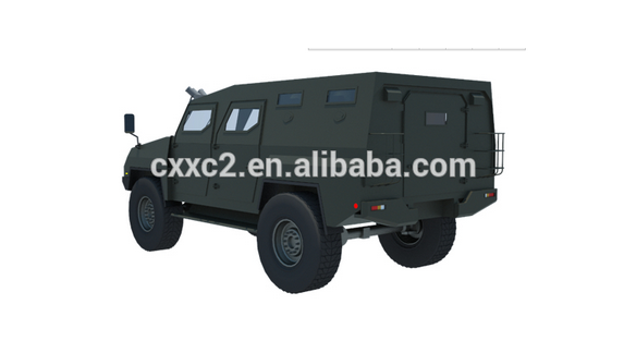 ISO Standard Military Bulletproof Truck 4x4 Drive Mode Armored Vehicle APC