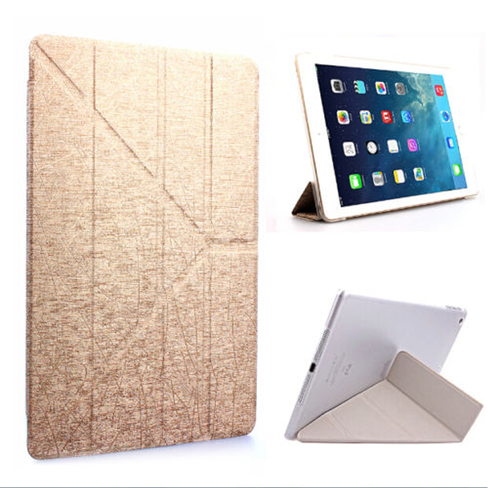 GOLD Ultra Slim Magnetic PU Leather Stand Case Smart Cover For iPad Pro 12.9