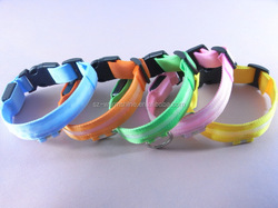 led dog collar rechargeable small