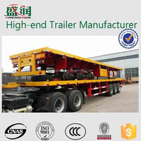 Hot sale container transportation 3 axles flatbed semi trailer
