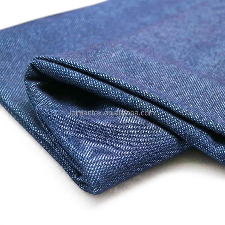 Golden supplier cotton polyester spandex knitted garment twill denim fabric
