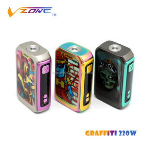 new products trending 2018 best Selling Colorful Vape Mod Vzone Graffiti 220w distribution Mod 500w box mod batterie 20700