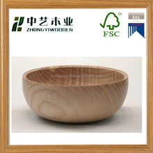 Antique design acacia hardwood natural bamboo wood salad bowl wholesale