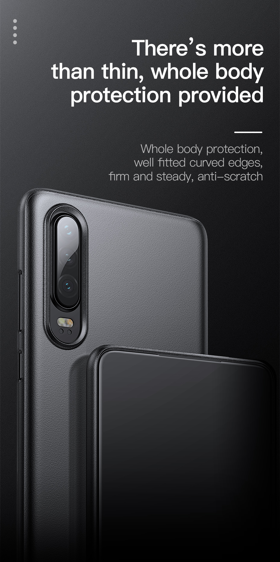 Baseus 2019 new Ultra Slim Protective Back Cover phone Case For HUAWEI P30