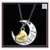 2017 Hot sale I Love You to the Moon and Back Gold Mom Family Charm necklace for Mother's Valentine's Day