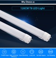 High brightness Aluminum 1200mm T8 led tube 100-277V 18W SMD2835 t8 tube