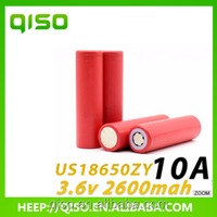 Rechargeable batteries lithium iron phosphate battery 3.7V 3000mah UR18650ZY battery for electric bike