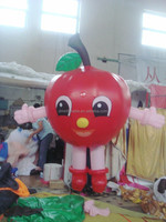 customized new style multicolor inflatable apple costume for adults/kids