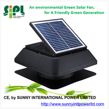 SUNNY ROOF FAN Green Energy Ventilation System Outdoor Ceiling Mounted Nonstop Spinning Powerful Solar Air Exhaust Fan