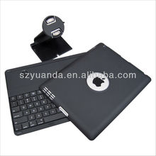 2013 New Design iPad2/3/4 Bluetooth Keyboard Case with 360 Degree Rotating 3 in 1
