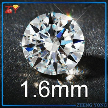 Loose Gemstone 1.60mm White Cubic Zirconia Stone Price Signity CZ