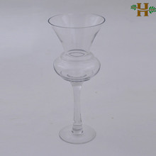 stemmed glass candle holders, long stem tall glass vases