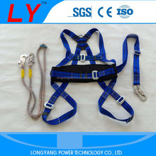 Dependable lightweight adjustable 1 D-ring full body safety harness