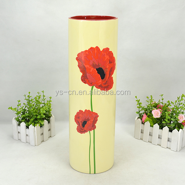 Hand Painted Home Decor chinese decal large ceramic vases