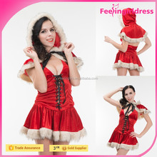 2016 Best Selling Fat Women Sexy Christmas Costume